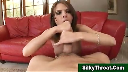 609325 Shy love gives deepthroat blowjob
