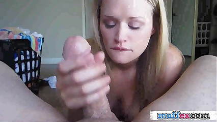 Stunning GF Heather deepthroats big cock