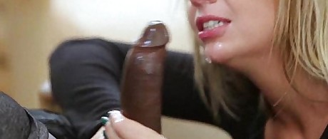 Blonde Teen Tries To Deepthroat Black Dick