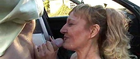 Public Deepthroat Milf Bonie Does 2 Guys in Car Park Amateur Reality
