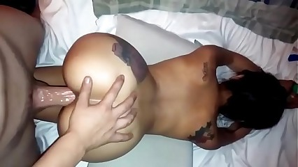 Asian amateur fucked doggystyle with boss