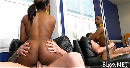 Astounding sex with sexy black lady