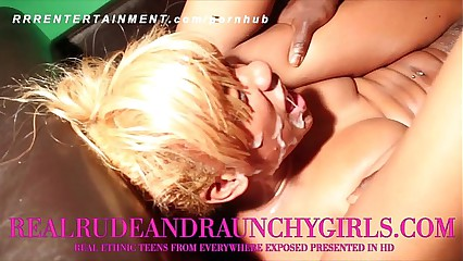 EBONY TEEN GANGBANGED IN WILD VIDEO