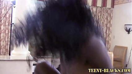 Cock riding ebony teen
