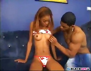 Sandy brown ebony fuck