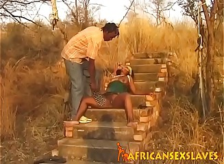 Ebony gets spanked and fingered