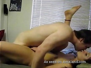 Chick gets a load of jizz in the bedroom