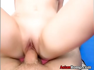 Asian Ex Girlfriend Rina Ellis Riding On Dick Point Of View