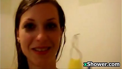 Skinny Ex Girlfriend Taking A Shower