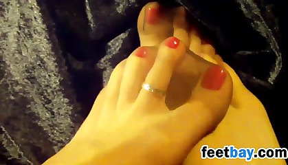 Nylon Covered Feet Of Lesbians Close Up
