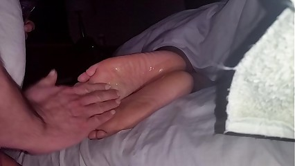 Cumming On Wife's Feet #39