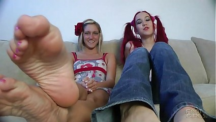 Amai and Taylor sexy feet