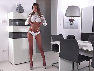 Tanned girl dances on webcam--- register for free in sluttycam.tk