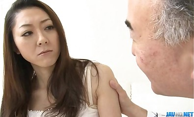 Ruri Hayami young doll meets senior cock