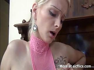 SKINNY BLOND NEEDS FISTING IN HER HUGE TWAT