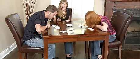 Babes sex card game fuck