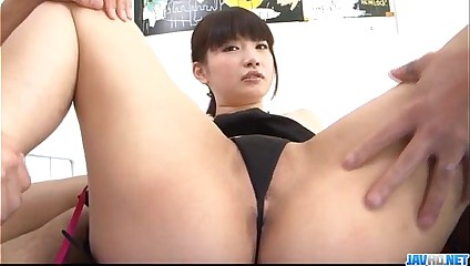 Akane Ozora enjoys Asian gangbang in hardcore