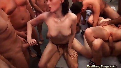 sexy german gangbang chicks