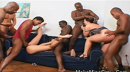Hot Chicks Takes A Gangbang And Do An Ass Licking
