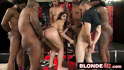 AVN Award-Winning Interracial Gangbang With Italian Superstar Valentina Nappi