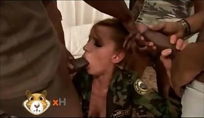 Olga Barz Extreme Interracial Gangbang
