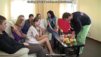 crazy group sex at a wild college party