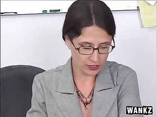 Mature Lena Ramone hairy pussy and Siiick Facial