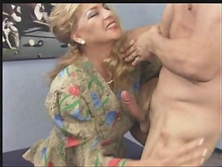 Mature - HAIRY - 2 Older Women Fucked On Table
