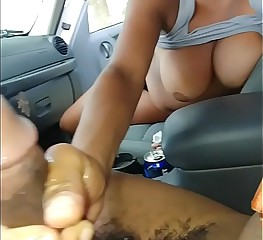 Milf Co-worker Gave Me Sloppy Wet Handjob At Work With Her Tits Out