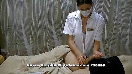 Nurse Natalie Blanc Handjob Specialist
