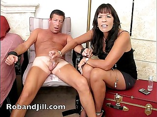 CFNM Handjob Training with Post Orgasm