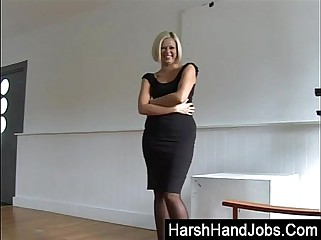 Anna Joy giving a harsh handjob