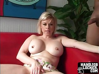 Huge tit blonde MILF
