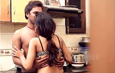 Horny desi indian couple kissing before sex