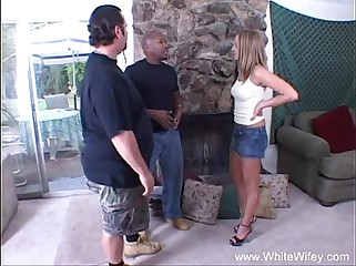 Blonde  BBC Anal Interracial