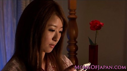 Mature Japanese in pyjama pleasures self