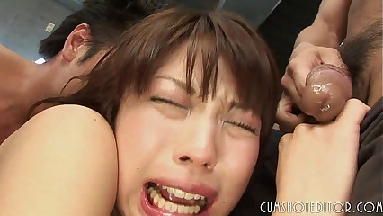Submissive Young Japanese Teen Stuffed By Multiple Cocks
