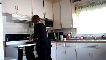 big ass in kitchen
