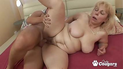 Fat Old Granny With Big Floppy Tits Gets Ass Fucked