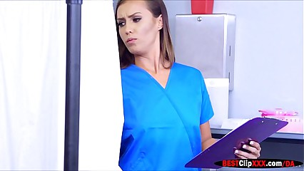 Hot and pervy nurse Kelsi Monroe seduces patient in hospital
