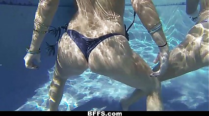 BFFS - Lesbian Sex Pool Party!