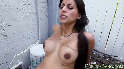 Latina public anal fucked