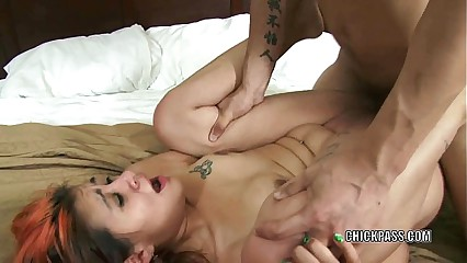 Horny hottie Dee gets her sweet Latina pussy pounded hard