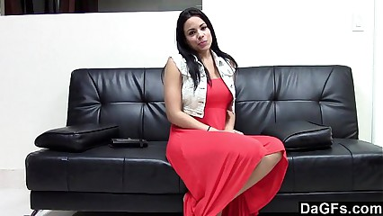 Awesome busty latina suck and fuck during an auditon