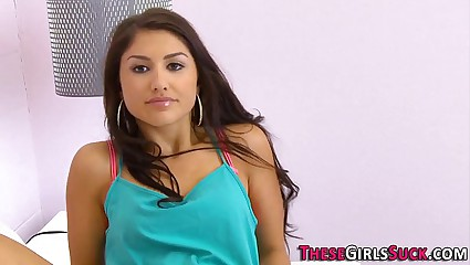 Face spunked latina teen