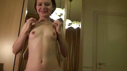 Amateur Teen Has Her First Lesbian Experiance On Webcam!