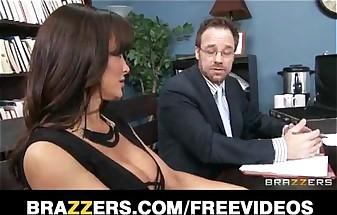 Big-tit brunette MILF Lisa Ann decides to settle out of court