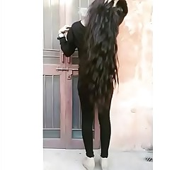 Long curly thick hair  - sexiest model hiba parvez
