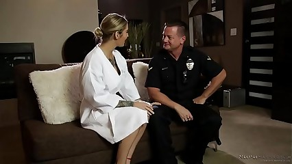 A cop shows up at the nuru massage spa! - Kleio Valentien, Eric Masterson
