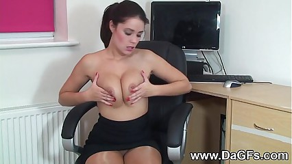 Hardcore Hitachi Vibe with Naughty Secretary Suzie